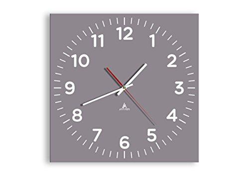 Orologio da Parete - Quadrato - Orologio su Vetro - Larghezza: 40cm, Altezza: 40cm - Numero dell'immagine 3329 - Movimento Continuo e Silenzioso - Pronto da Appendere - C4AC40x40-3329