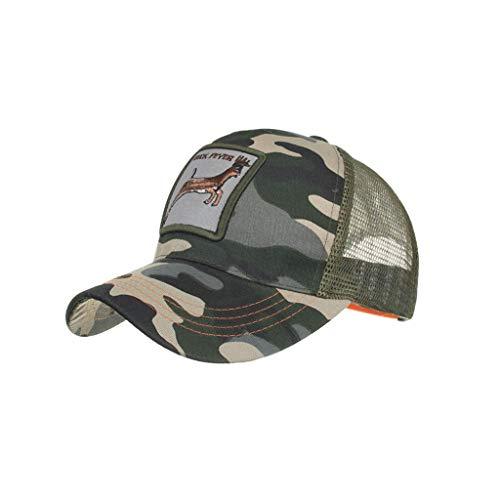 zarupeng✦‿✦ Unisex Moda Animales Bordado Malla transpirable Gorras de béisbol Sombrero Hip Hop Sombreros de sol de verano