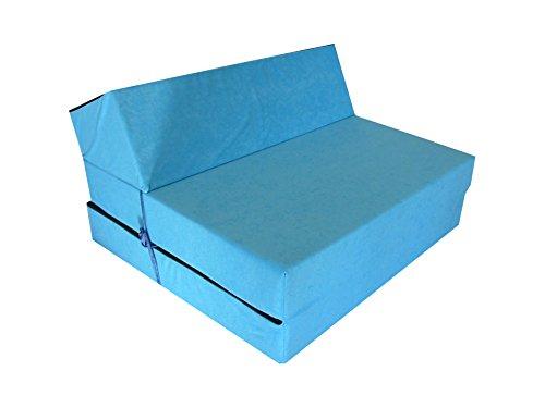 Natalia Spzoo Materasso futon Pieghevole Lunghezza 160 cm in Diversi Colori (Blu)