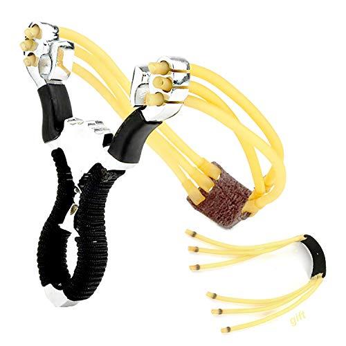 Gxhong Zwille Steinschleuder, Outdoor Jagd Schleuder Katapult Steinschleuder Slingshot Stahl Sportschleuder