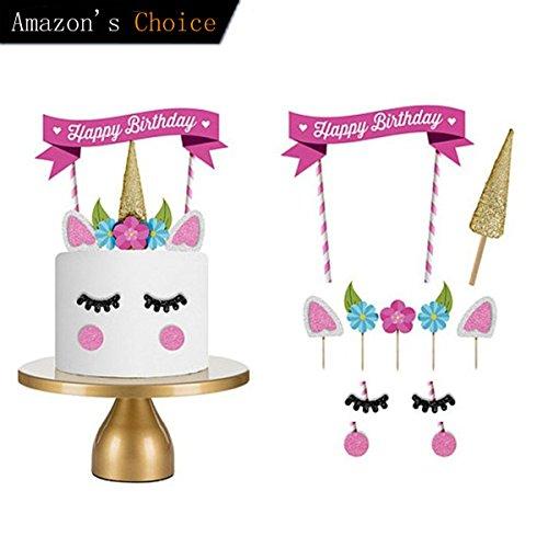Decoraciones De Unicornio Cake Topper Hecho A Mano Feliz