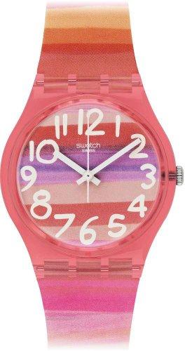 Swatch GP140 ASTILBE - Orologio da Donna Analogico al Quarzo Gent con Cinturino di plastica,...