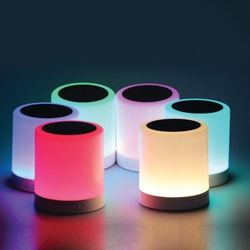 EYUVAA LABEL Portable Bluetooth Speaker with Smart Colour Changing Touch Mode Night Lamp