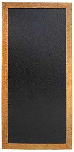 Securit - Lavagna da parete, scrittura con gesso, con finitura laccata e cornice in legno di tek, 56...