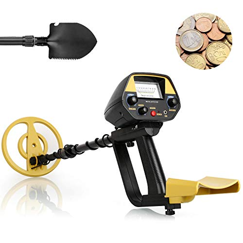 INTEY Metal Detector, Due modalità di Rilevamento, Sonda Impermeabile, Lunghezza Regolabile, la...