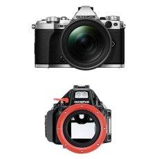 "Olympus OM-D E-M5 Mark II - Cámara EVIL de 16.1 MP (pantalla 3"") color plata - objetivo M.ZUIKO EZ 12 - 40mm f/2.8 +  Olympus PT-EP13 - Carcasa subacuática para cámara Olympus OM-D E-M5 Mark II"
