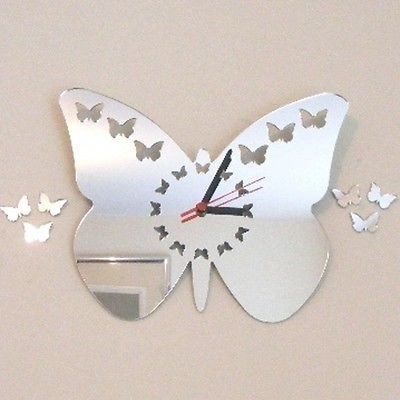 Super Cool Creations Espejo con diseño de Mariposas y Mariposas - 25 cm x 20 cm