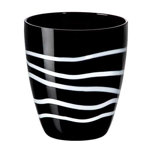 Bicchiere da succo, calice da acqua, bicchiere in vetro, collezione 'REEF', lavorato a mano, 10 cm,...