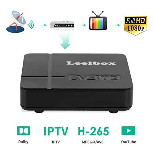 Decoder Digitale Terrestre,DVB-T2 Leelbox K2 Ricevitore Digitale Terrestre Full HD Scart...