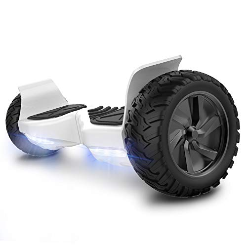 GeekMe Hoverboard elettrico fuoristrada Scooter auto bilanciamento con potente motore LED luci...