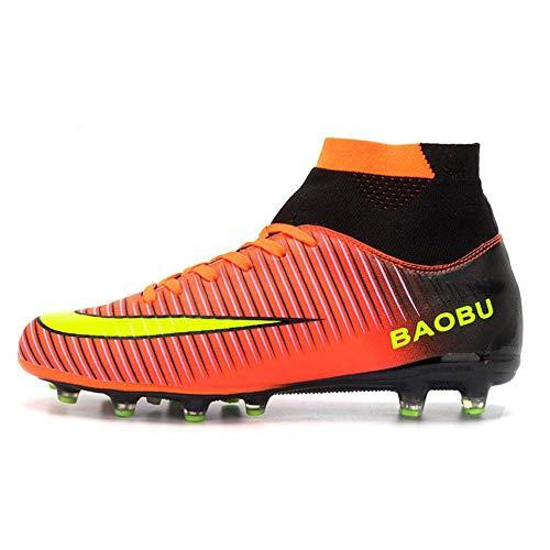 Nike JR SFLY 6 Academy GS CR7 FG/MG, Scarpe da Calcio Unisex-Bambini, Rosso (BRT Crimson/Black/Chrome/Dk Grey 600), 38.5 EU
