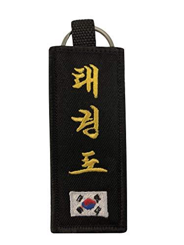 eccezionale gamma di colori Raccogliere a basso costo Budodrake - Portachiavi con Cintura Nera per Taekwondo, Ricamo Coreano e  Bandiera della Corea per Taekwondo - You Combat