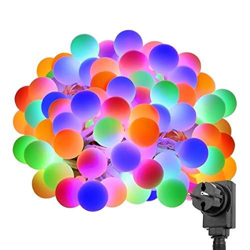 LE Stringa Luminosa 10m 100 LED RGB Catena Luminosa Impermeabile, 8 Modalità di Luce con Funzione...