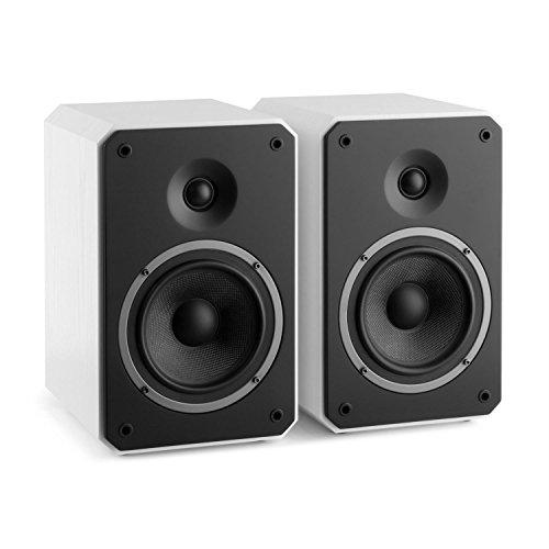 NUMAN Octavox 702 MKII - Coppia Casse Altoparlanti a due vie da scaffale (100 Watt MAX, Bass reflex, Contatti Dorati, Alloggiamento rinforzato) Bianco