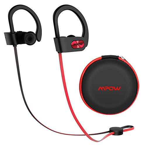 Mpow Flame [Upgraded] Bluetooth Headphones with Case, Bassup Technology HiFi Stereo in-Ear Wireless Earbuds, Waterproof IPX7 Earphones W/Mic, 8-10 Hrs Playing time, CVC6.0 Noise Cancelling Headsets
