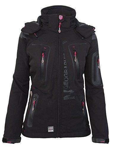 Geographical Norway - Giacca multifunzione Giacca impermeabile e sportiva da donna nero X-Large