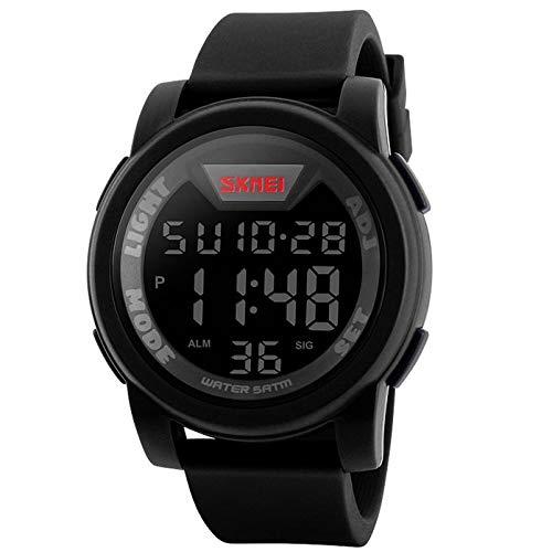 Relojes hombre digital reloj de pulsera militar deportivo para hombres impermeable (5 ATM) de Longqi, de silicona, con pantalla LED