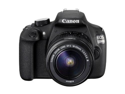 Canon EOS 1200D Fotocamera Reflex Digitale 18 Megapixel con Obiettivo 18-55DC, Nero/Antracite