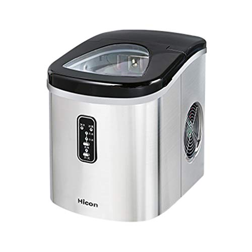 WHJ-Ice maker Macchina del Ghiaccio 15 kg Mini Piccola Famiglia in Acciaio Inox Desktop Manuale...