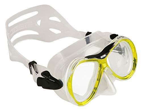 Seac Capri SLT, Maschera Subacquea per Uomo e Donna, Ideale per Snorkeling Unisex Adulto, Giallo, Standard