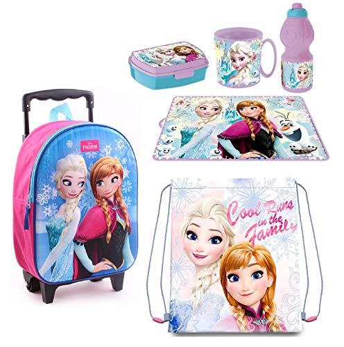 Frozen Principesse Zainetto Zaino Trolley in 3D, Sacca Sport, Set Colazione Merenda Scuola Materna...