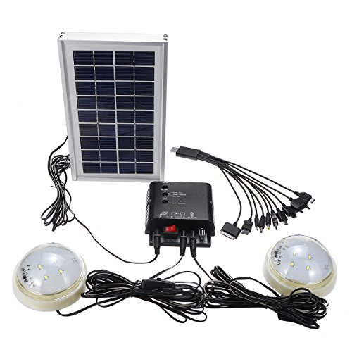 HITSAN INCORPORATION Portable Solar Panel Generator Solar Generator System for Camping Home With LED Bulbs