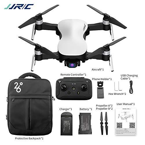 ETbotu Drone, JJRC X12 GPS Drone 5G WiFi FPV motore brushless 1080P HD Camera GPS Dual Mode Posizionamento pieghevole RC Drone Quadcopter RTF bianca
