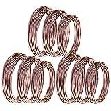 TOOGOO 9 Rollos Bonsai Wires Alambre de Entrenamiento de Aluminio Anodizado Bonsai con 3 Tama?Os (1.0 Mm, 1.5 Mm, 2.0 Mm), Total 147 Pies (MarróN)