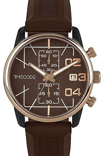 Timecode Herren Chronograph Quarz Uhr mit Gummi Armband TC-1019-04