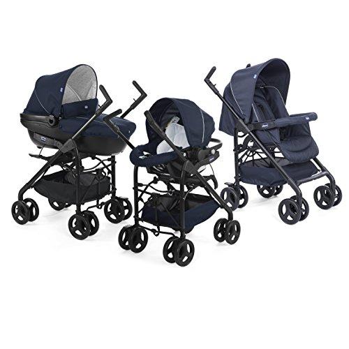 Chicco 00079366640000 Trio Sprint Passeggino con Kit Auto, Blue Passion