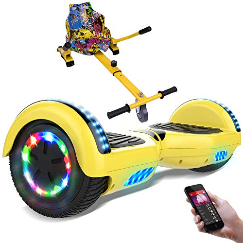 RCB Hoverboard elettrico Scooter elettrico con Hoverkart Go-Kart Costruito in luci a LED Bluetooth...