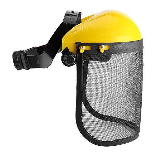 Casco de seguridad de protección de escudo de cara completa con visera de malla ajustable para motosierra Jardinería desbrozadora forestal