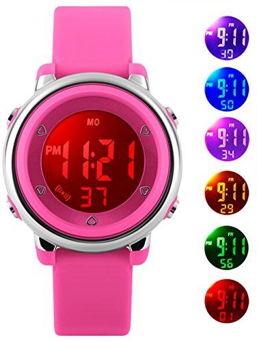 Orologio digitale orologi regali per ragazze - 5 atm impermeabile sport all' aperto per bambini con...