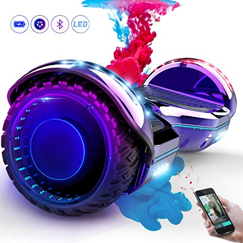 COLORWAY Hoverboard Elettrico Bluetooth Scooter con Bluetooth & LED Auto Balance E-Skateboard