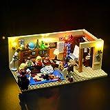 BRIKSMAX Kit di Illuminazione a LED per The Big Bang Theory, Compatibile con Il Modello Lego 21302 Mattoncini da Costruzioni - Non Include Il Set Lego