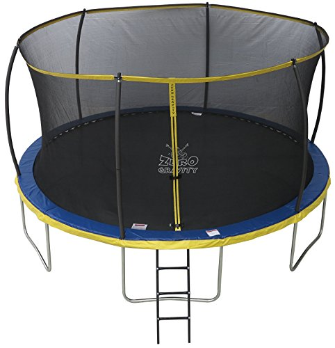 The ultimate best trampoline for kids with a safety net, ladder and decent maximum weight.