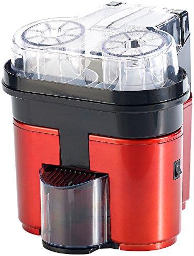 Rosenstein & Söhne Orangenpresse elektrisch: Elektrische Duo-Zitruspresse für 2 Frucht-Hälften, bis 500 ml, 90 Watt (Zitruspresse automatisch)