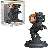 Funko- Figurines Pop Vinyl: Movie Moments: Harry Potter S5: Ron Riding Chess Piece Collectible Figure, 35518, Multcolour