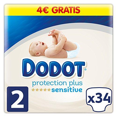 Dodot Sensitive – Pannolini per neonati, Taglia 2 (1 scatola di 34 pannolini)