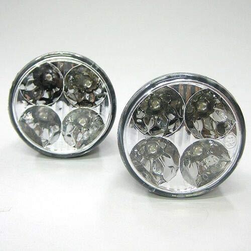 Luci di marcia diurna, 9 LED DRL, luce bianca anteriore, fendinebbia, rotonda, 12 V, 2 x 7,1 cm.