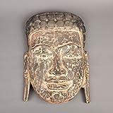 SE Asia Estatua de Buda de Madera de Teca Estilo Antiguo de Camboya