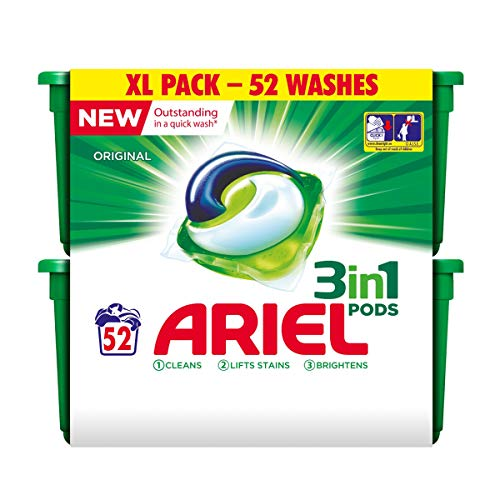 Ariel Laundry Detergent 3 In 1 Pods - 52 pods (Regular)