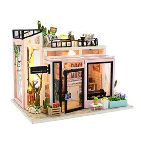 Adminitto88 DIY Modelo Casa Pequeña Puzzle, Ensamblaje De Modelo De Construcción, Casa De Muñecas En Miniatura Kit Y Juguetes, Artesanía Hecha A Mano De Estilo Moderno, Regalo De Cumpleaños Creativo