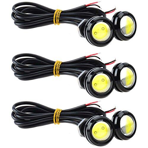 KAWELL Universale 6PCS Alta Potenza Bianco 9W LED Eagle Eye Ammortizzatore DRL Nebbia Luce di Giorno...