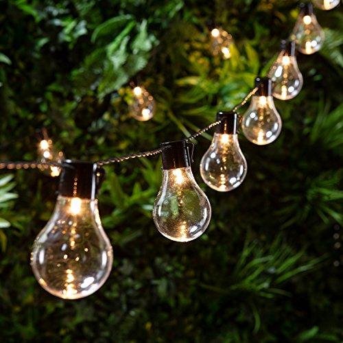 Catena di 20 Lampadine con LED Bianco Caldo a Basso Voltaggio per Interni ed Esterni di Lights4fun