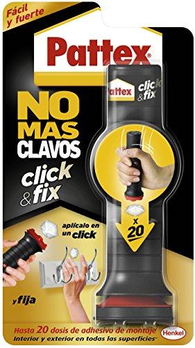 Pattex No Más Clavos Click&Fix, Adhesivo de Montaje Fuerte, Rápido, Fácil y Limpio,1x30g