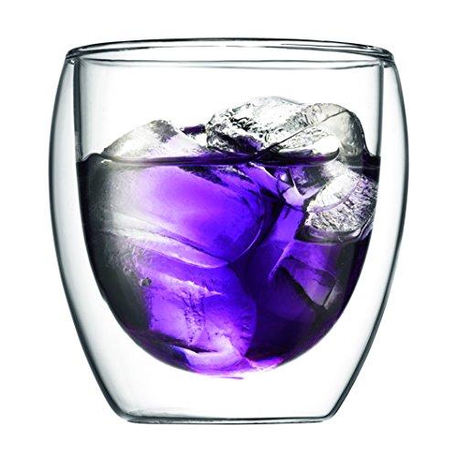 Bodum Pavina - Set de 6 vasos térmicos, 0,08 l, cristal borosilicato, transparentes 4