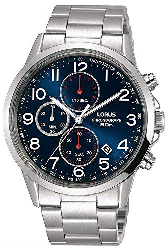 Lorus Orologio Cronografo Quarzo Uomo con Cinturino in Acciaio Inox RM367EX9