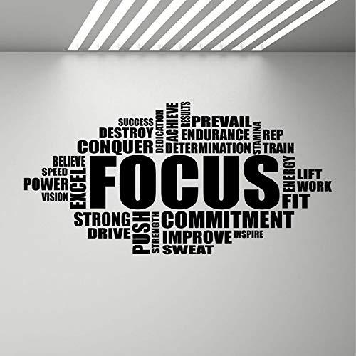 SLQUIET Segno Motivazionale Fai-da-Te Palestra Citazione Parola Poster Fitness Sport Adesivo murale...