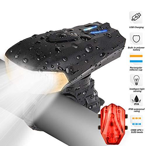 LED bicicletta luce, Luci Bicicletta LED Ricaricabili USB con 1200 lumen & Resistente all'acqua...